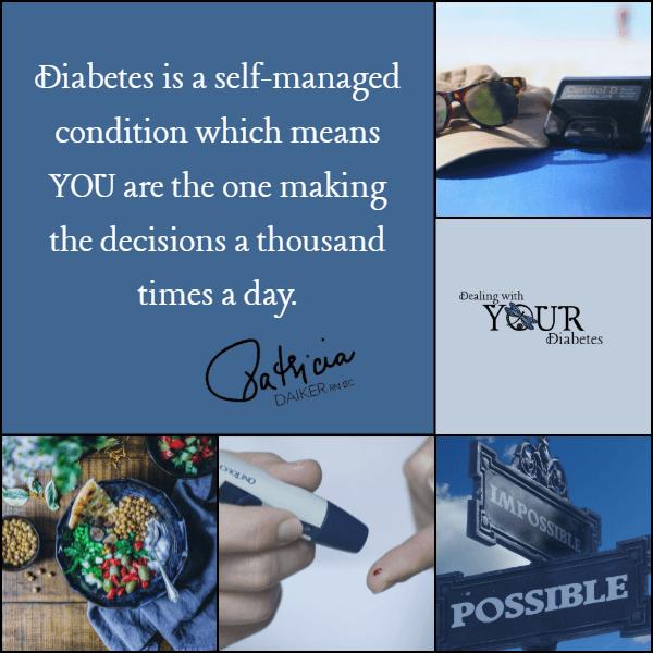 Inspiration: Diabetes – YOU make the decisions