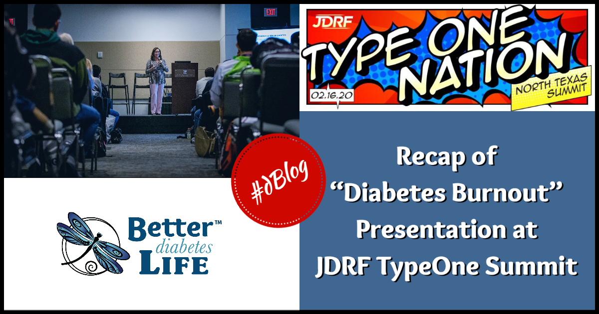 Diabetes Burnout Presented at JDRF Summit